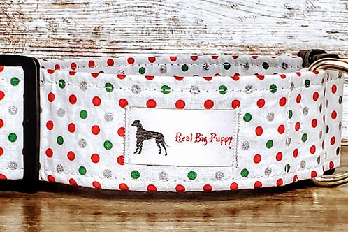 Real Big Puppy Collar 32 - Holiday