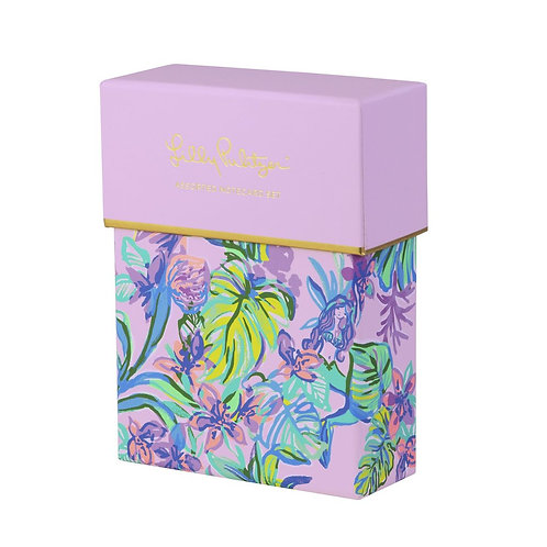 lilly pulitzer assorted notecard set, mermaid in the shade