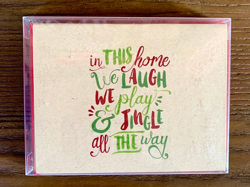 JW In This Home We Laugh We Play & Jingle All The Way Boxed Set