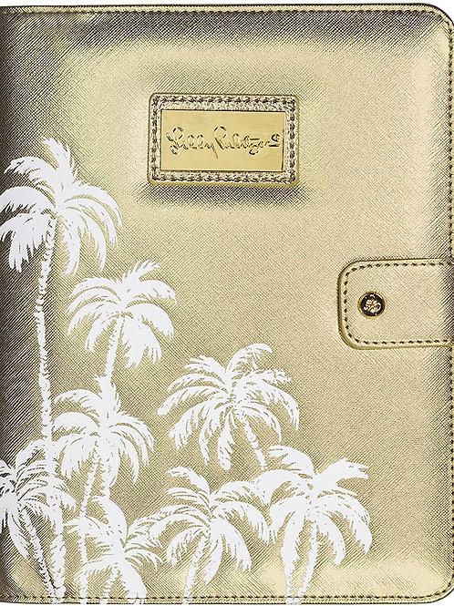 Lilly Pulitzer Agenda Folio, Gold Palms