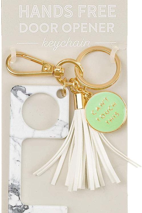 Eccolo Hygiene Helper Hands-Free Door Opener Keychain With Tassel