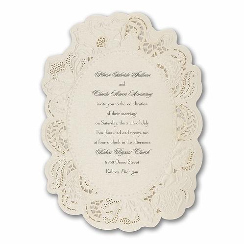 Vintage Doily Invitation -BS13703