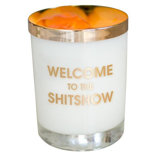 Welcome to the Shitshow - Gold Foil Rocks Glass