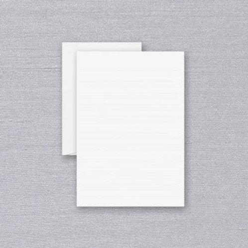 Ruled Pearl White Half Sheet