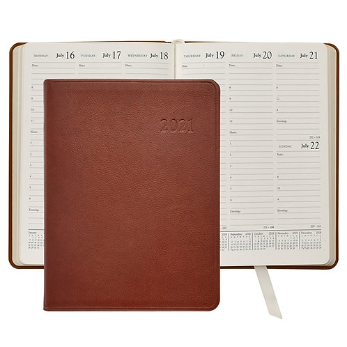 2021 Desk Diary Traditional Leather-DDV-TR1