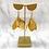 Thumbnail: Whimsical Black Girl Gold Trumpet Earrings