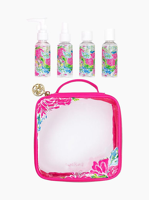 Lilly Pulitzer Travel Bottle Set - Bunny Business  214001