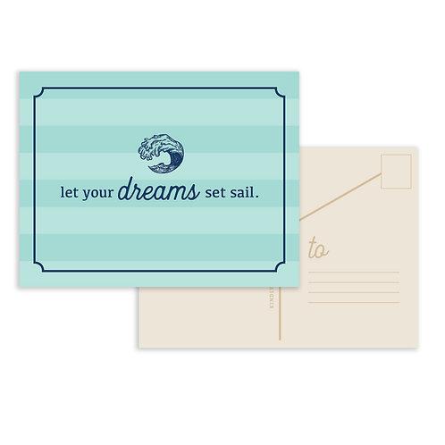 Message In A Bottle: Dreams Postcard