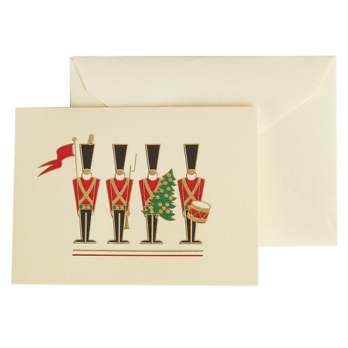 Crane & Co Engraved Toy Soldier Gift Cards 8pce