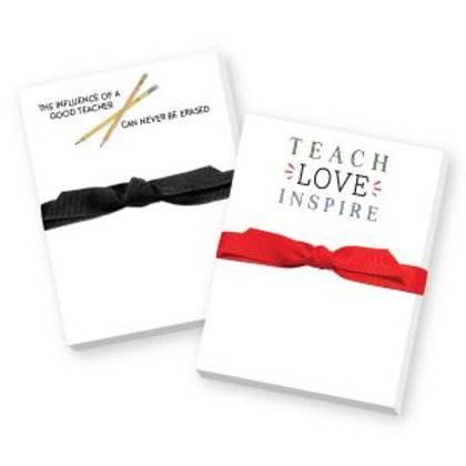 Mini Notepads with Ribbon - Teaching
