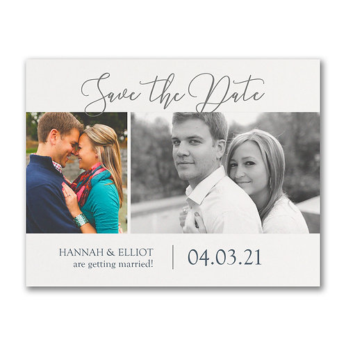Carlson Craft  Getting Married - Photo Save The Date Postcard