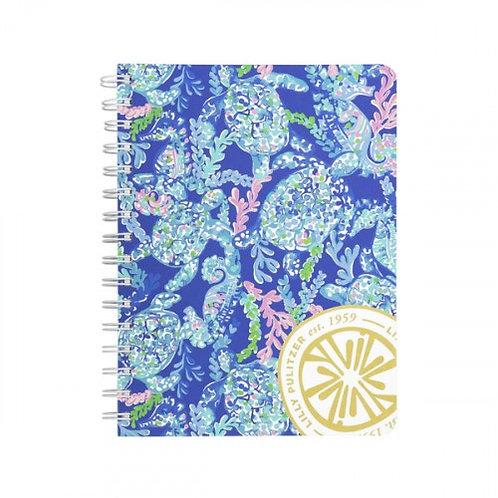 lilly pulltzer mini notebook, turtle villa