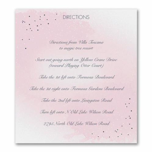 Champagne Wedding Direction/Map Card - FBMC56826