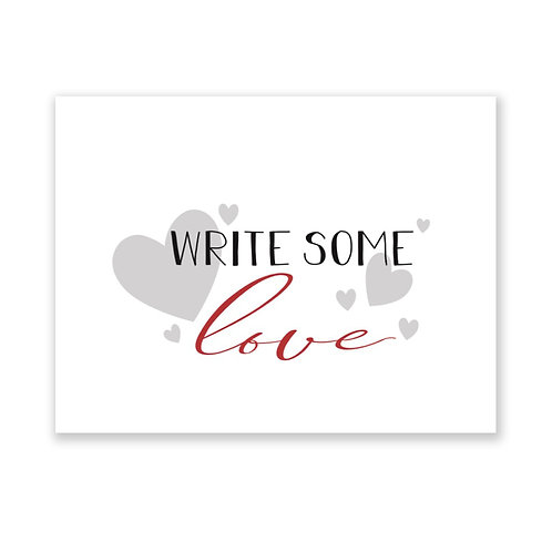 WRITE some Love: Folded Notecards with Red Envelopes, Set of 8