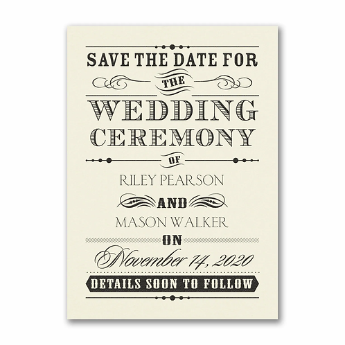Wedding Day Declaration Save the Date - VZSD27618EC