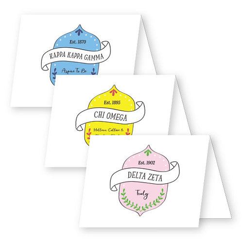 Crest Foldover Notecards