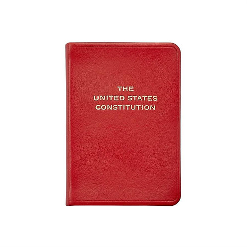 Mini United States Constitution Traditional Leather