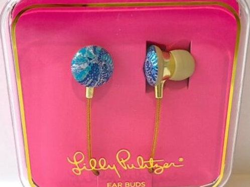 illy pulitzer earbuds, wave after wave