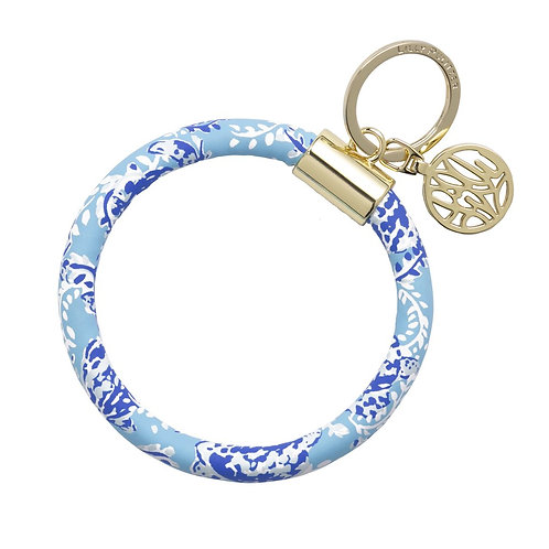 lilly pulitzer round keychain, turtley awesome