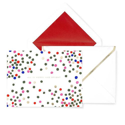 kate spade new york holiday card set, holiday dot