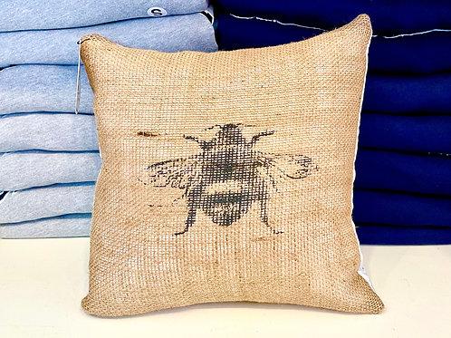 The Burlap Bee- Burlap Bee pillow  12x12