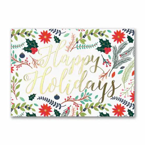 Happy Holidays Floral  YMM1765