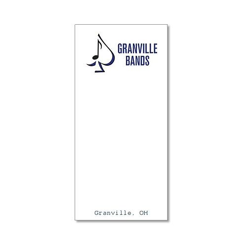 Arts Boosters - Skinnie Band Notepad