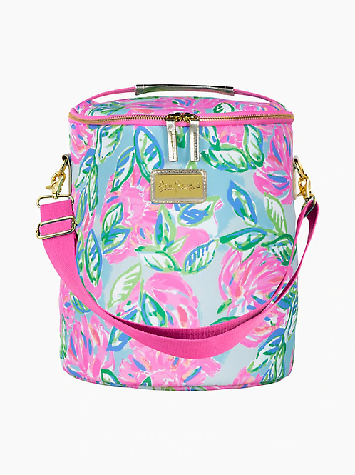 lilly pulitzer beach cooler, totally blossom