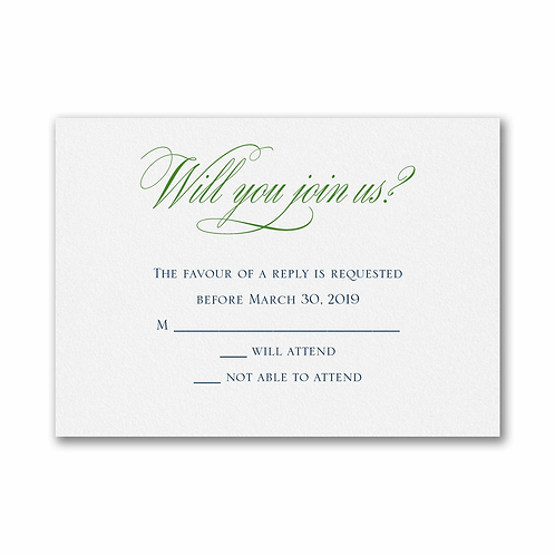 We Wed Response Card and Envelope - TWSE39847