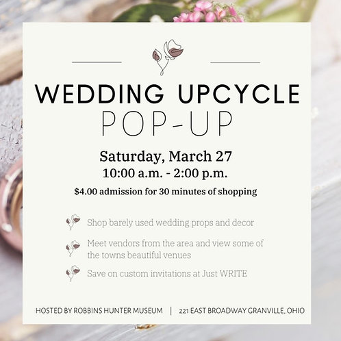 Ticket to Wedding Upcycle Pop-Up