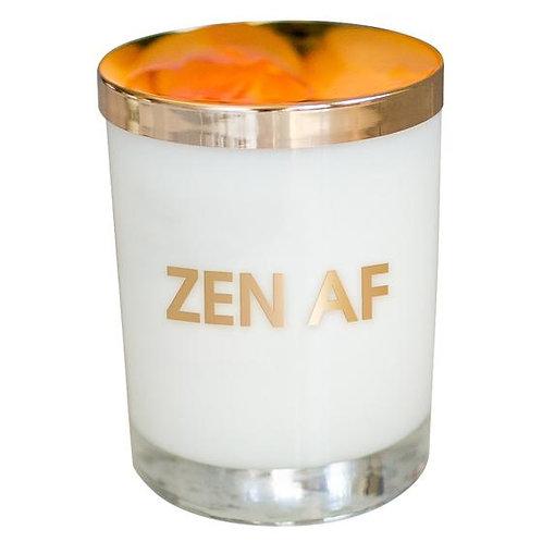 Zen AF Candle - Gold Foil Rocks Glass