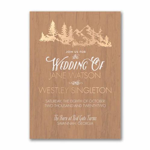 Wooden Wonder Invitation - TWS58380