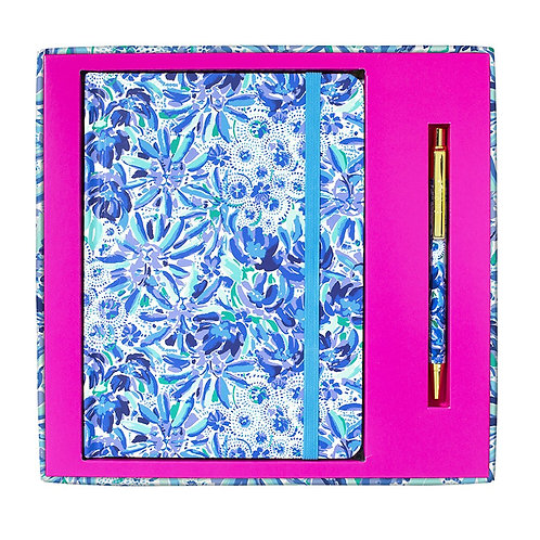 lilly pulitzer journal with pen, high manetenance