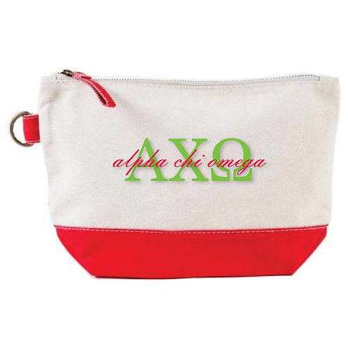 Embroidered Greek Doodle Pouch