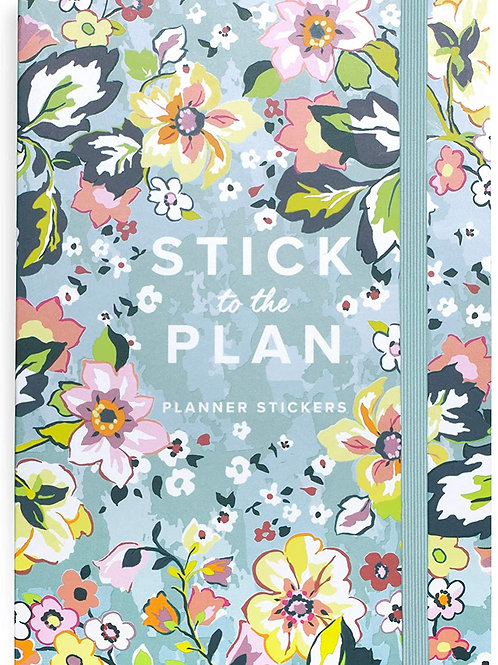 Vera Bradley Planner Sticker Book with 20 Pages of Colorful Stickers, Assorted S
