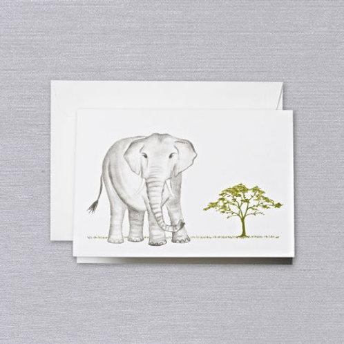 Brushstroke Elephant Note