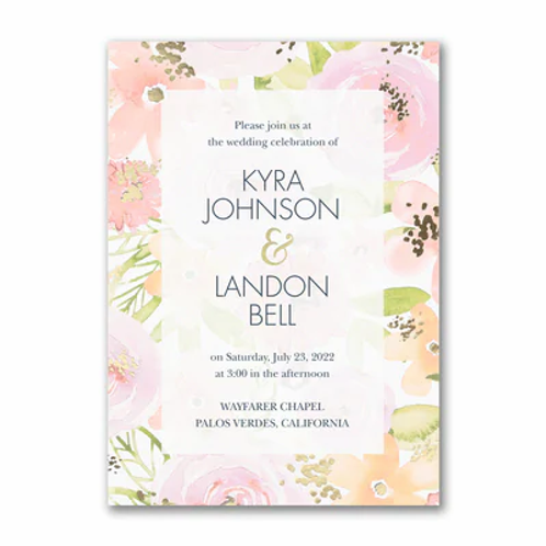 Colorful Blooms Invitation - TWS58245