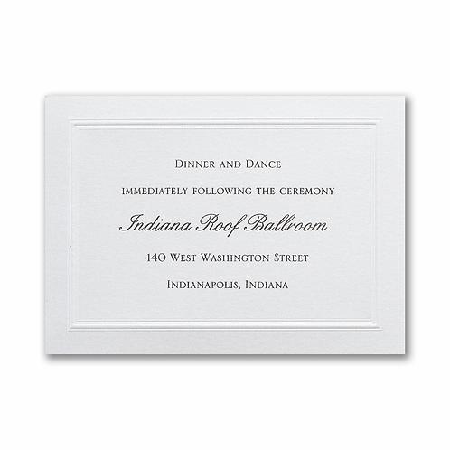 Shimmering Wedding Reception Card - WRR29934