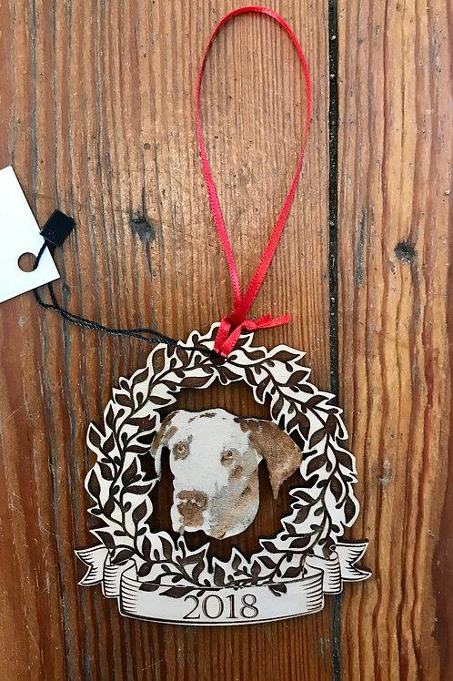 Real Big Puppy Custom Portrait Ornament