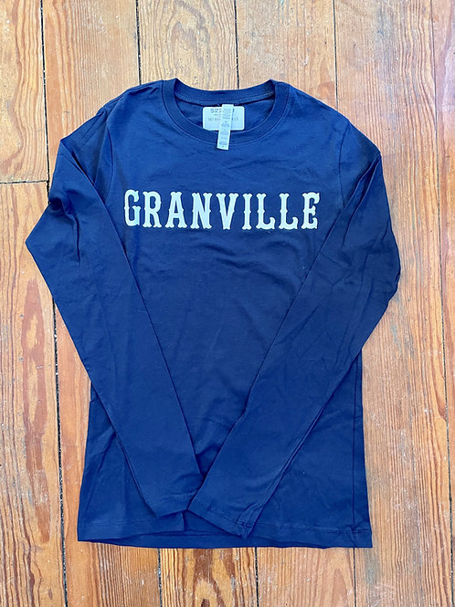 Discountinued 587 Navy  Long Sleeve Granville Tee with Sancreek Lettering