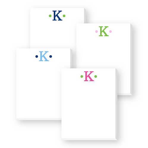 Initial Cute Notepad (4 pack)