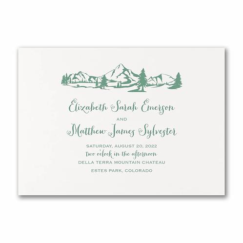 Mountains & Evergreens Invitation -TWS58372