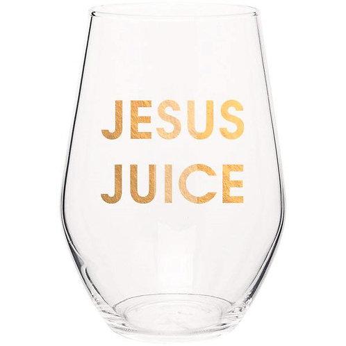Jesus Juice Wine Glass