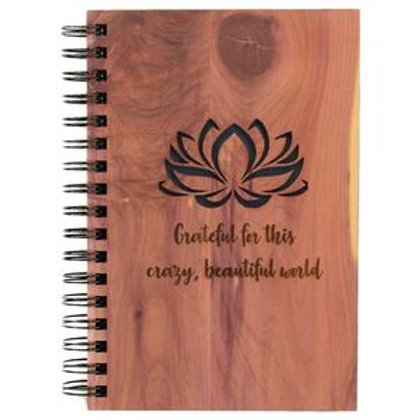 Grateful for this crazy beautiful world Spiral Journal