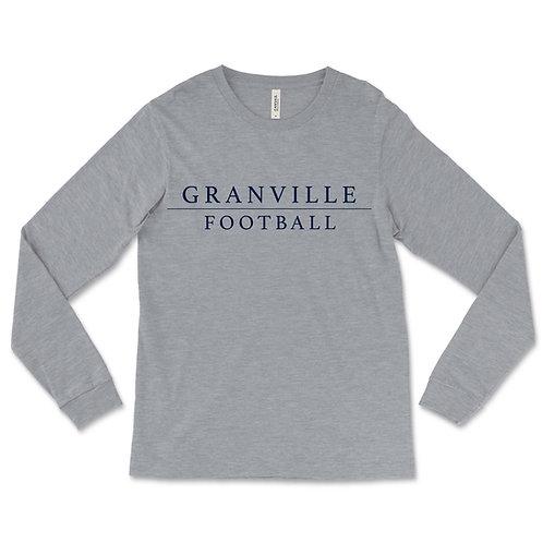 587 Grey Long Sleeve Football Tee