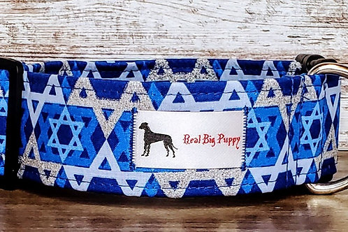 Real Big Puppy Collar 22 - Hanukkah