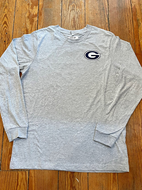 587 Light Gray Classic G Long Sleeve Granville Tee ( Ace on Back)