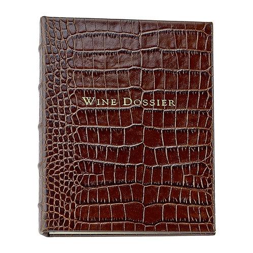 Wine Dossier Crocodile Embossed Leather - WLB-CRO