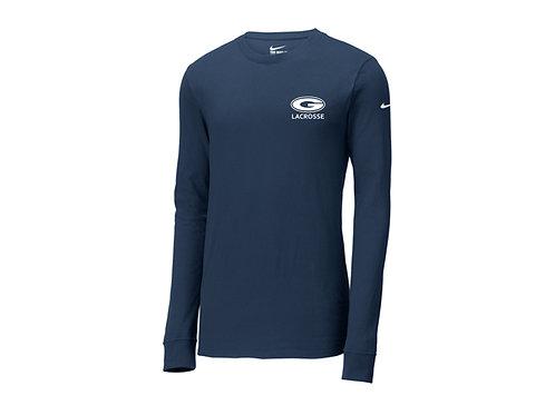 Nike Navy Core Cotton Long Sleeve Tee