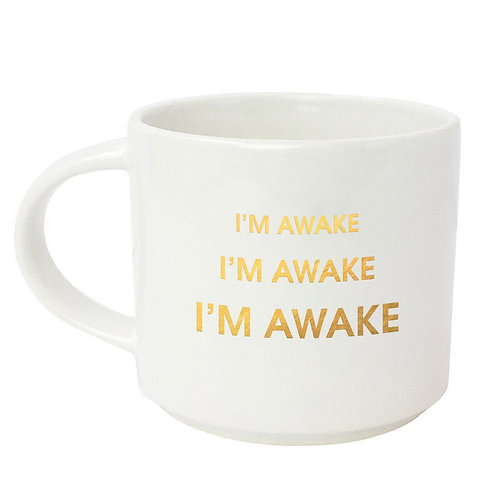 I'm awake I'm awake, Metallic Gold Mug